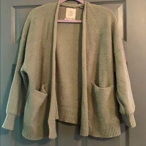 Green Comfy Cardigan